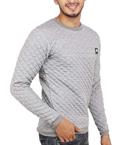 DELHI TRADERSS Men's Cotton Winter Woolen Sweatshirt (Grey, Free Size)