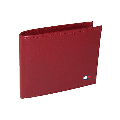 Tommy Hilfiger Mens Leather Bold Passcase Billfold Wallet