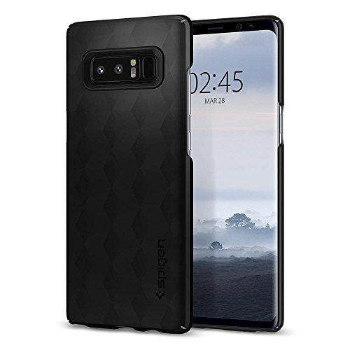 Spigen Samsung Galaxy Note 8 Hülle, [Thin Fit] Passgenaues [Schwarz] Slim Hart PC Hardcase Schale Schlanke Handyhülle Schmal Schutzhülle für Samsung Note8 Hülle Case Cover - Black (587CS22051)