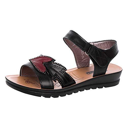 Sandales Femmes Plates Pas Cher,CIELLTE Slippers Mode Féminine Cunettes Compensées Peep Toe Flatform Chaussures Sandales Pantoufles