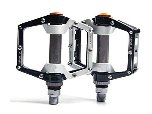 HOUHOUNNPO Pedale Aluminium Durable Professional Ersatzteile Ersatz Für Mountainbike (Schwarz und Weiß)