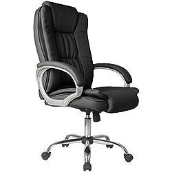 Vendita Stock Comfort 2-Sedia da Ufficio Elevabile e reclinabile in Similpelle, Colore: Nero