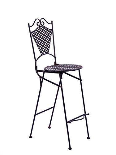 Gartenmöbel Eisenmöbel Barhocker Gartenstuhl Stuhl antik Stil Eisen braun - Eisen Barhocker