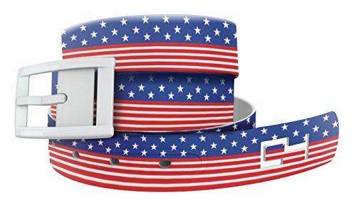ter Gürtel: Americana Gurt mit weißer Schnalle, modischer Gürtel, Taillengürtel für Damen und Herren ()