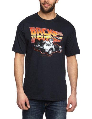 Coole-Fun-T-Shirts T-Shirt Zurück in die Zukunft - Back to the Future - 80-er Jahre, schwarz, S, FT175 (80er-jahre-spiele-t-shirts)