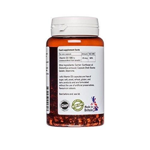 Vitamin D3 1000 IE - 180 softgels - i-vit (sojafrei) - 3