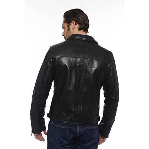 Daytona Shelby - Blouson en cuir - Homme - Noir Noir