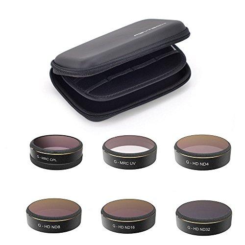 DJI Phantom 4 Advanced/Pro Filterset CPL/UV/ND Filters 6 Stück mit einer Tasche