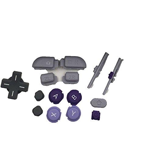 Ersatzknöpfe Violett Grau (Oberfläche in L R ZL Zr Home Power Start Select Taste Tasten für Nintendo Neu 3DS LL 3DS XL (SNES 2017Limited Edition)