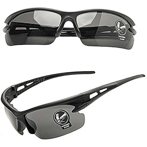 Gafas de sol deportivas Equitación Ciclismo Running Eyewear Gafas, mujer hombre Infantil, negro