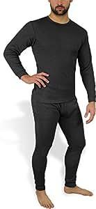 Sehr warme Thermo Unterwäsche - Ski Sportunterwäsche Garnitur - Unterhose und Hemd Thermounterwäsche von normani Farbe Anthrazit Größe Größe 5 = XS