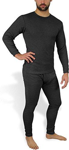 Sehr warme Thermo Unterwäsche - Ski Sportunterwäsche Garnitur - Unterhose und Hemd Thermounterwäsche von normani Farbe Anthrazit Größe 6=S (Ski-thermo-unterwäsche)