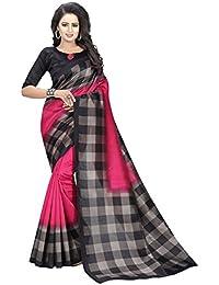 Shreeji Ethnic Women's Cotton Silk Printed Saree With Blouse Piece
