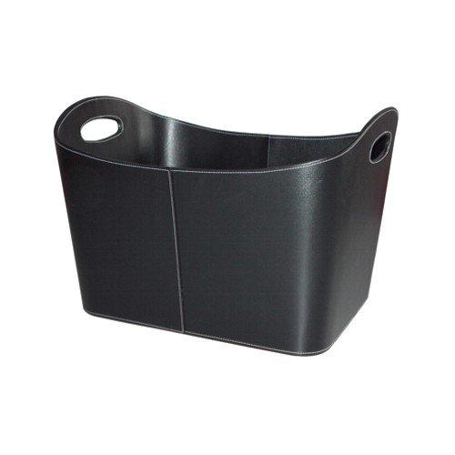 *Benta 99168 Holzkorb mit Kunstlederbezug, 53,5 x 43 x 34 cm, schwarz*
