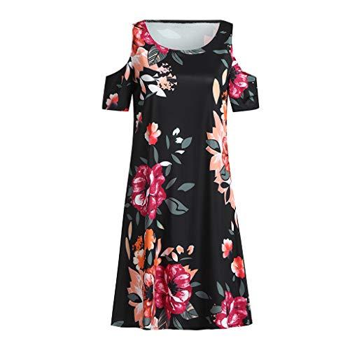 Bellelove Lässige Elegante Frauen Sexy Dressings Sommer Figurbetontes Abendkleid Kurzarm Rundhals Druck Minirock Kleider - Weste Frauen Dressing