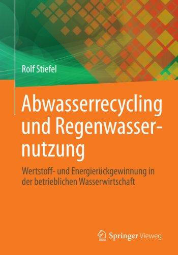 Abwasserrecycling und Regenwassernutzung: Wertstoff- und Energierückgewinnung in der betrieblichen Wasserwirtschaft