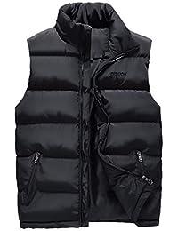 460f509ce7d6 AIEOE - Doudoune sans Manches Chaud Homme Gilet Hiver avec Poches Fermeture  Eclaire Grande Taille Couleur