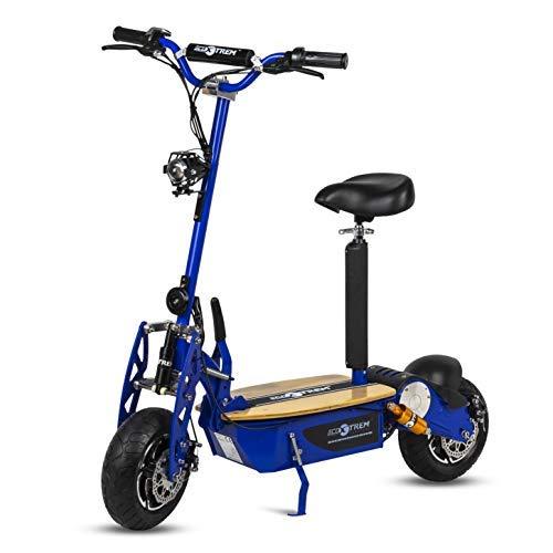 Patinete, Scooter tipo moto Eléctrico dos ruedas, Plegable, Color Azul Motor 2000W, Velocidad máxima 40km/h, Autonomía 30-40km, Con suspensión, Luz...