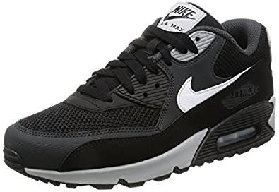 Nike Air Max 90 Essential, A Collo Basso Uomo, Multicolore (Black/White-Anthracite-Wolf Grey), 40.5 (Nike Lifestyle Scarpe)