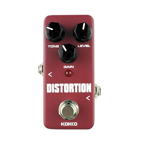 Mini Verzerrung Portable Gitarre Effektpedal Prozessor der klassischen Verzerrung Tone Effect Universal für Gitarre Bass, KOKKO FDS2