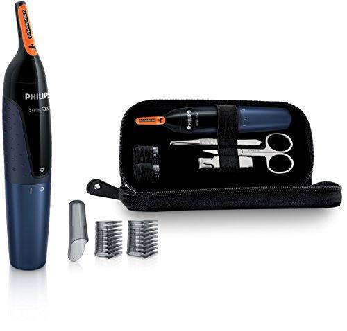 Philips NT5180/15 Serie 5000 Rifinitore di Precisionee per Naso, Orecchie e Sopracciglia con Set Manicure, Tecnologia ProtecTub