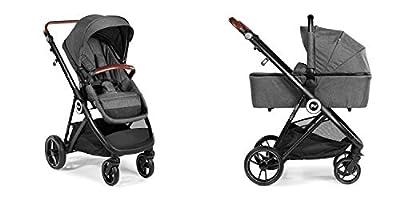 Carro Cochecito Mommy 2 piezas - Innovaciones MS - Silla + Capazo + plástico de lluevia. Asientos reversible Cara y Contra marcha. Ligero y Compacto