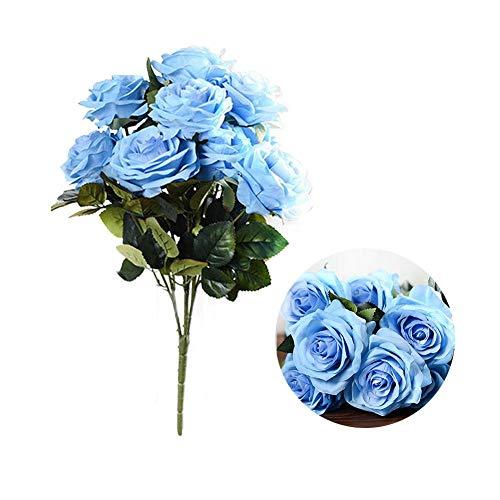 (blendivt Gefälschte Blumen, 10 künstliche Rosen, duftende Blumen, dekorative Blumen, künstliche Blumen, Hochzeitssalon, Kunstblumen, Blumenschmuck)