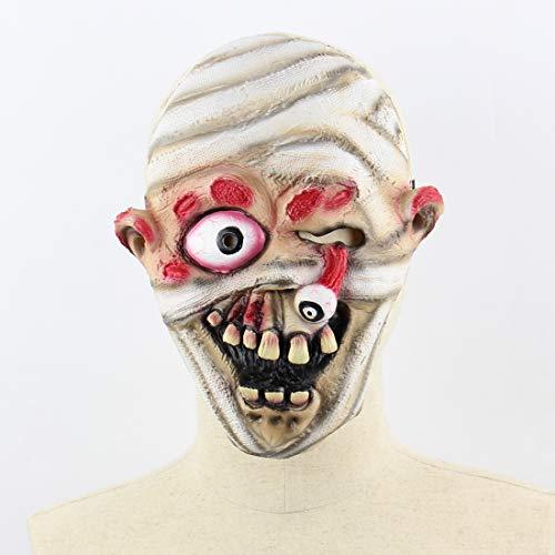 Blutiger Augapfel Kostüm - Halloween Latex Maske Beängstigend Blutige Explosive