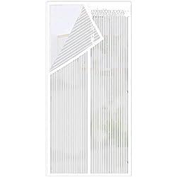 Funihut Mosquitera Puerta Magnetica Corredera Cortina Mosquitera Magnética para Puertas Cortina De Sala De Estar La Puerta del Balcón Puerta Corredera De Patio - 210x90 Cm