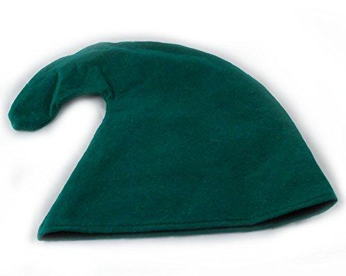 (Zwergenmütze in grün für Erwachsene - Zwergen Hut Mütze)