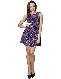 Panit Navy Blue & Multi Printed Georgette Dress