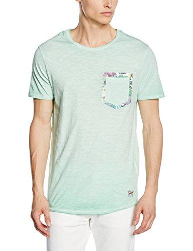 JACK & JONES Herren T-Shirt Jjorpoc Tee SS Crew Neck Türkis (Cabbage Fit:SLIM)