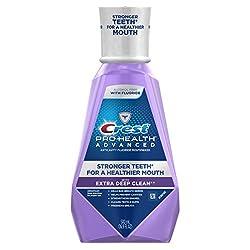 Clean Mint , 16.9 Fluid Ounce : Crest Pro-Health Advanced with Extra Deep Clean Mouthwash, Clean Mint, 16.9 Fluid Ounce