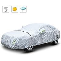 Sailnovo Bâche Auto Housse de Protection Voiture Couverture Voiture avec Bandes fluorescentes (530 * 200 * 150cm)