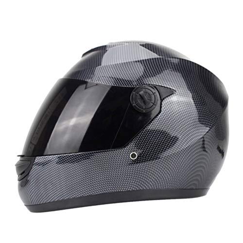 Qianliuk Unisex Helm SchäDelmuster Motorradhelm Safety Racing Moto Helm Casco Capacete