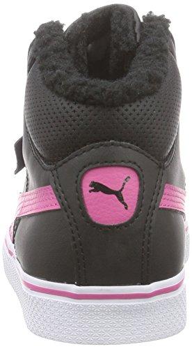 Puma Puma 1948 Mid Vulc Perf Unisex-Kinder Hohe Sneakers Mehrfarbig (black-carmine rose-white 04)