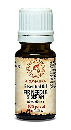 Huile essentielle d'aiguille de sapin 100% naturelle essentielle pure 10ml - Abies Sibirica Needle Oil - pour beauté - aromathérapie - détente - pour le sauna - Lampe parfumée - Huile d'sapin de Aromatika