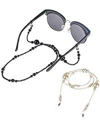 Fashion argento in acciaio INOX sfera perline catena occhiali da sole degli occhiali cordino porta bicchieri aK44H5eQ
