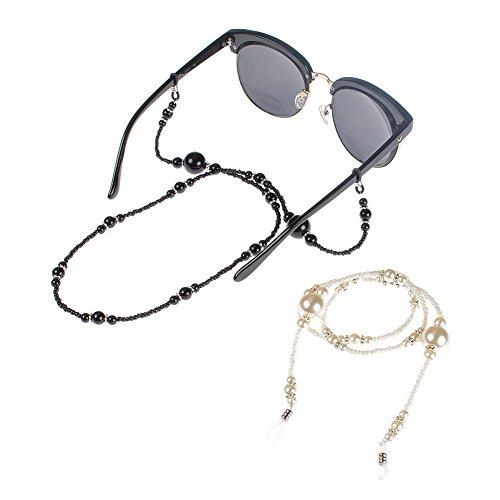 Soleebee 68 cm Mode Universal Brillen Ketten Schnur Acryl Perlen Brillenhalter kette Brillenband/Brillenkette / Brillen Cord/Sonnenbrille kette Hals Lanyard/Brillenhalter Hals Cord Strap