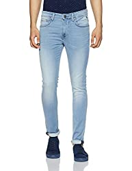 LP Jeans By Louis Philippe Mens Slim Fit Jeans (8907689472215_LRDN1R001653_Ice Blue_Light Blue Solid)