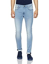 LP Jeans By Louis Philippe Men's Slim Fit Jeans (8907689472215_LRDN1R001653_Ice Blue_Light Blue Solid)