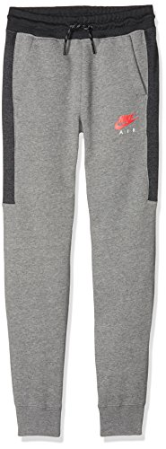 Cuff Trainingshose (Nike B NK Air Cuff Herren Trainingshose, Kinder L grau / (Carbon Heather/Anthracite/Siren red))