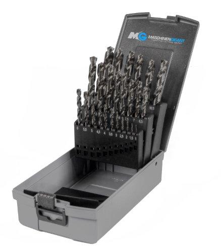 Metall Spiralbohrer im Set 25-tlg. Industriequalität HSS 1-13 mm in Rose Box