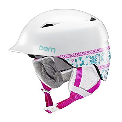 Bern Girls' Camina All Season Helmet-Satin Blue Snowflake, X-Small/Small/51-53 cm by Bern
