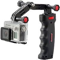 Kamerar Kam.Pro manche pistolet pour GoPro + bras coudé / trépieds / adaptateur de pieds de flash / support pour smartphone Noir