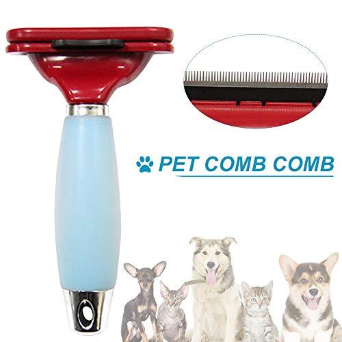 Cassiela Pet Kämmen Kamm Silikon Automatischer Haarentfernungskamm für Tierhaarmesser Heimtierbedarf Kammbürste für Katzen und Hund zum Öffnen von offenem Kamm