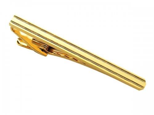 2C - Herren Krawattenklammer KRAWATTENNADEL gold schlicht