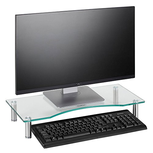 VonHaus Curved Glass Monitor Screen Riser Stand