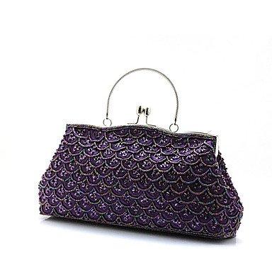 WZW Donna Poliestere Formale / Casual / Serata/evento / Matrimonio / Ufficio e lavoro / Shopping Borsa da sera . black purple