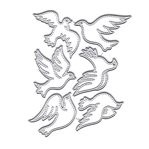 DIY Prägestempel, Metall Stahl Schneiden Prägestempel Kit Für DIY Einladung Scrapbook Album Handwerk-Taube (Diy Einladung Kits)